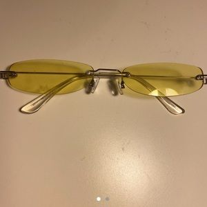 Yellow Small Frame Sunglasses